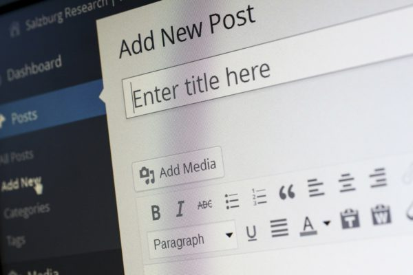 Wordpress Blog Post Editor